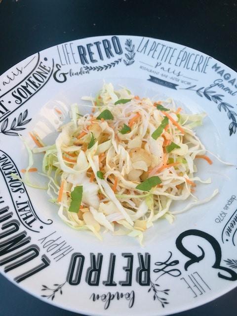 salade chou à l'asiatique