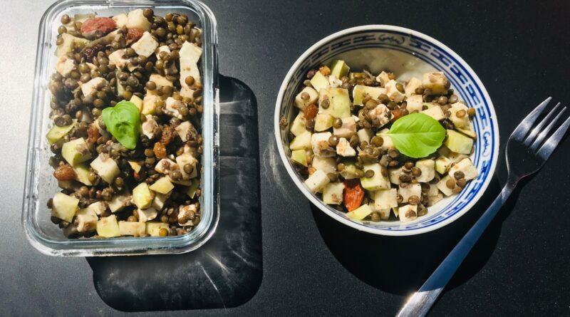 salade lentilles chou rave