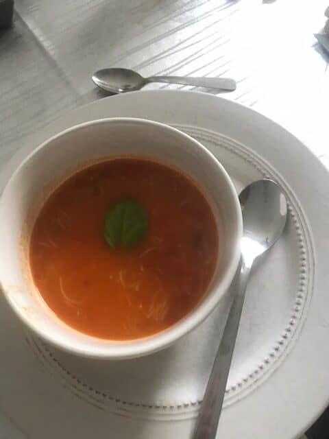 Soupe de tomates aux vermicelles