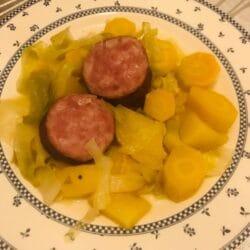 Potéee de légumes et sauciise de Morteau
