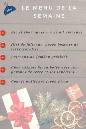 menu avant noël décembre