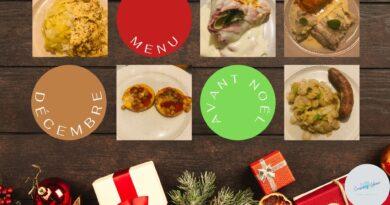 menu d'avant Noël - Décembre