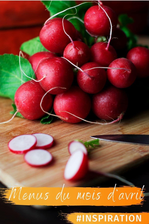 radis - menus du mois d'avril