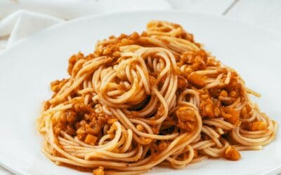 Spaghetti bolognaise végétarienne