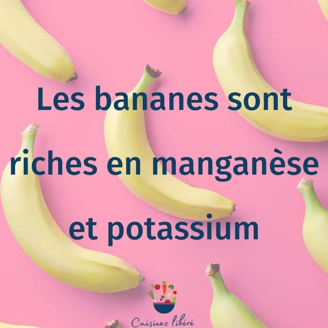 Les bienfaits des bananes
